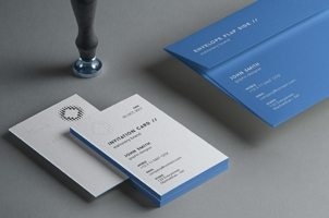 Psd Invitation Card Mockup Vol4