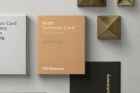 Psd Invitation Card Mockup Vol8