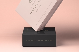 Psd Jewelry Magnetic Box Mockup