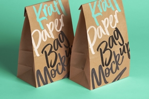 Psd Kraft Bag Packaging Mockup