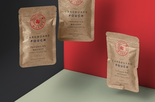 Psd Kraft Flat Pouch Packaging