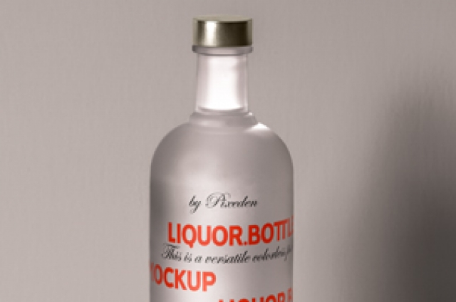 Psd Liquor Bottle Mockup Template