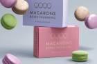 Psd Macarons Box Packaging Mockup