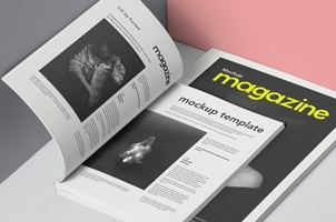 Psd Magazine Mockup 2 Sizes