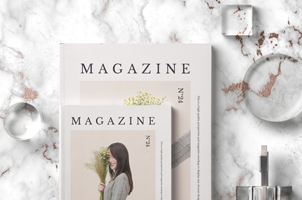 Psd Magazine Mockup 2 Sizes Vol2