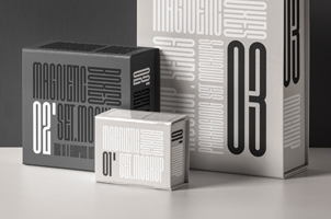 Psd Magnetic Boxes Set Mockup