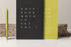 Psd Notebook Mockup Set Vol 2