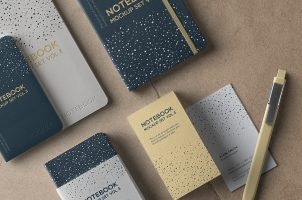 Psd Notebook Mockup Set Vol 3