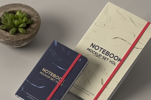 Psd Notebook Mockup Set Vol 5