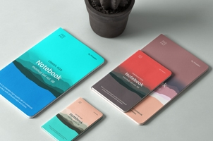Psd Notebook Mockup Set Vol 6