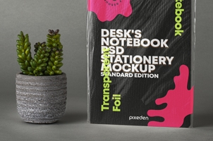 Psd Notebook Transparent Foil Mockup