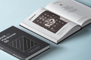 Psd Open Hardcover Book Mockup Vol2