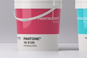 Psd Paint Bucket Mockup Template