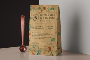 Psd Paper Bag Coffee Packaging Set