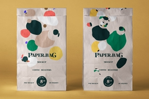 Psd Paper Bag Mockup Set