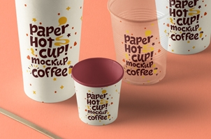Psd Paper Hot Cup Template Vol10