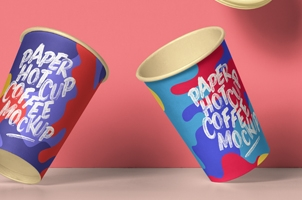 Psd Paper Hot Cup Template Vol11