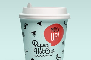Psd Paper Hot Cup Template Vol2