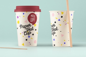 Psd Paper Hot Cup Template Vol5