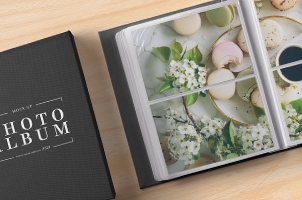 Psd Photo Album Mockup Template Vol2