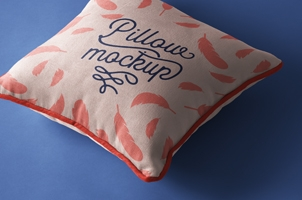Psd Pillow Mockup Presentation Vol4
