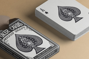 Psd Playing Cards Mock-Up