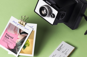 Psd Polaroid Photos Mockup