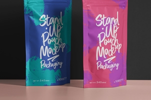 Psd Pouch Packaging Mockup Set