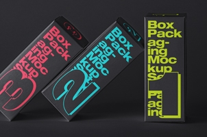 Psd Rectangle Box Mockup Set