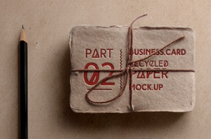 Psd Recycled Business Card Mock-Up v2