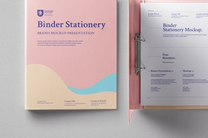 Psd Ring Binder Folder Mockup