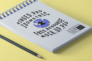 Psd Ringed Notepad Mockup Vol2