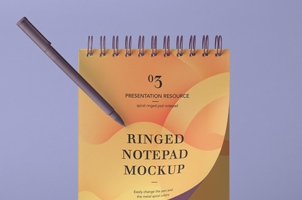Psd Ringed Notepad Mockup Vol3