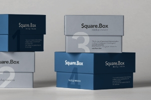 Psd Small Square Boxes Mockup 2