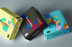 Psd Square Boxes Packaging Mockup