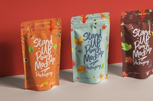 Psd Stand-Up Pouch Packaging Mockup