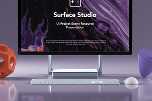 Psd Surface Studio Mockup Showcase