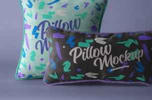 Psd Throw Pillow Mockup Set 2