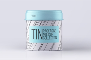 Psd Tin Container Packaging Vol1