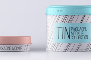 Psd Tin Container Packaging Vol2