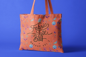 Psd Tote Bag Fabric Mockup Vol3