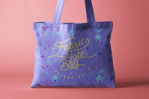 Psd Tote Bag Fabric Mockup Vol4