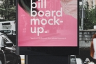 Psd Vertical Billboard Mockup