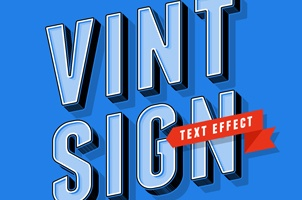 Psd Vintage Sign Text Effect