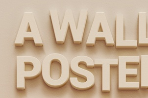 Psd Wall Poster Text Effect