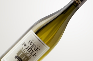 Psd White Wine Bottle Mockup