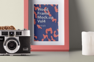 Psd Wood Frame Mockup Vol4