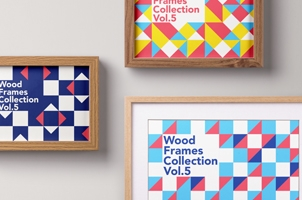 Psd Wood Frame Mockup Vol5