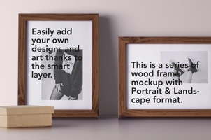 Psd Wood Frame Mockup Vol6