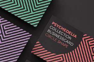 Premium and free business cards templates pixeden psychedelia business card template accmission